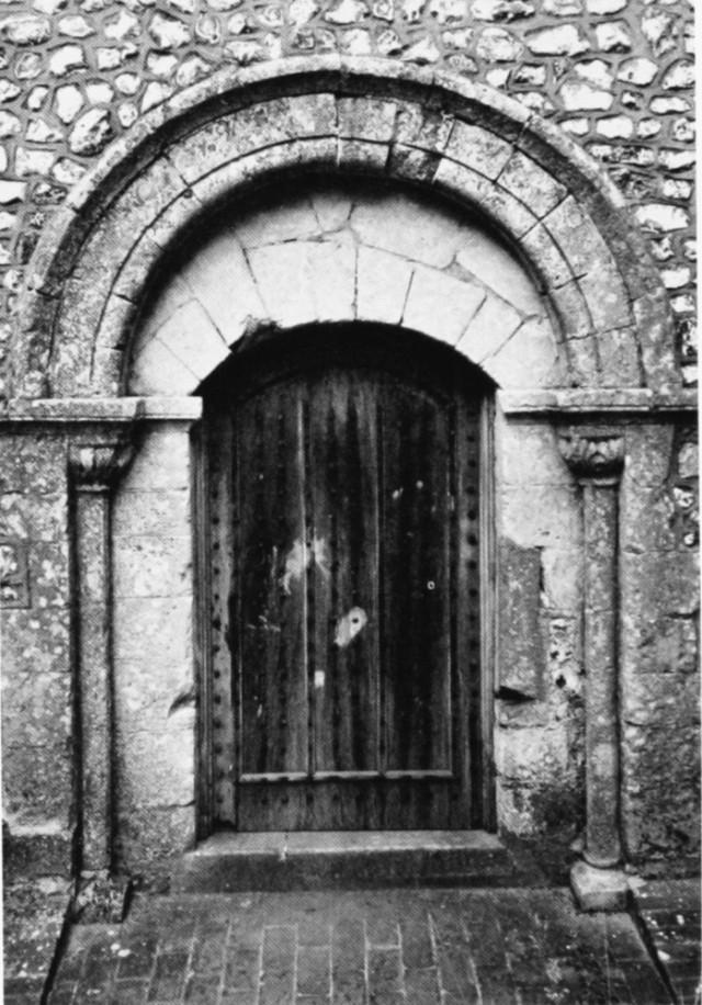 St Catherines Chapel, S doorwat 12th C, RCHME, fig241 (2016_01_17 15_27_57 UTC)