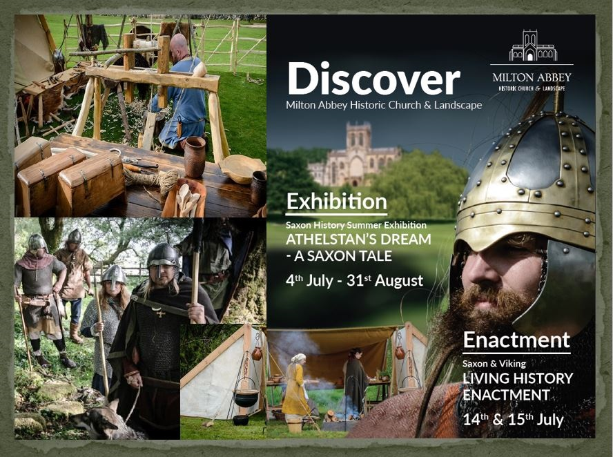 Montage of enactment camp and athelstan flyer