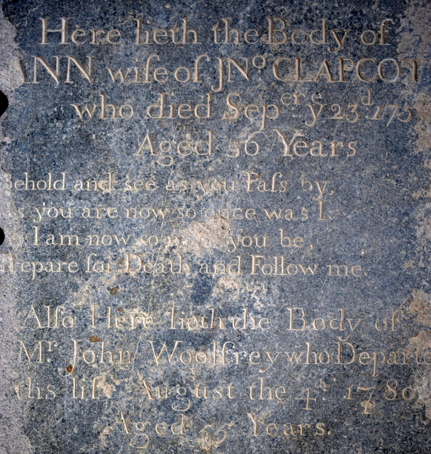 tombstone Ann Clapcott, John Woolfrey, DSC_1912